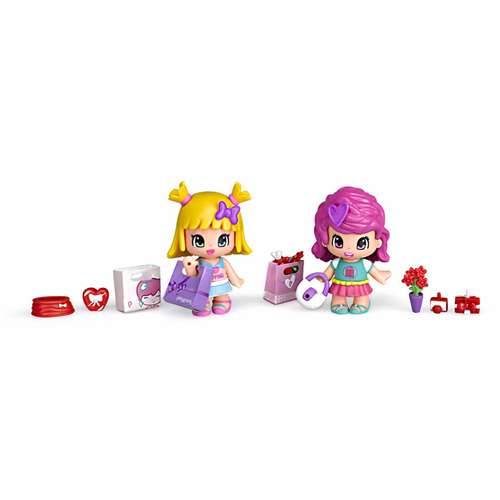 Pinypon coffret 2 figurines shopping
