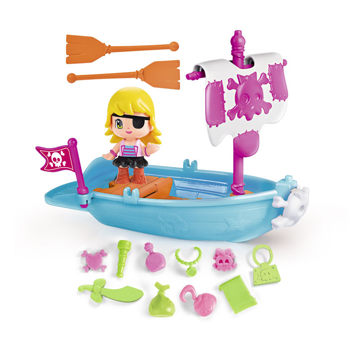 Pinypon Beateau Pirate + 1 Figurine