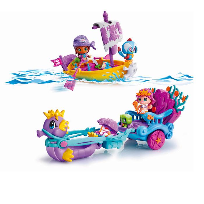 Pinypon Carrozza della Sirene e Barca Pirata