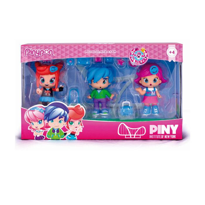 Pinypon by PINY. 2 meninas com menino