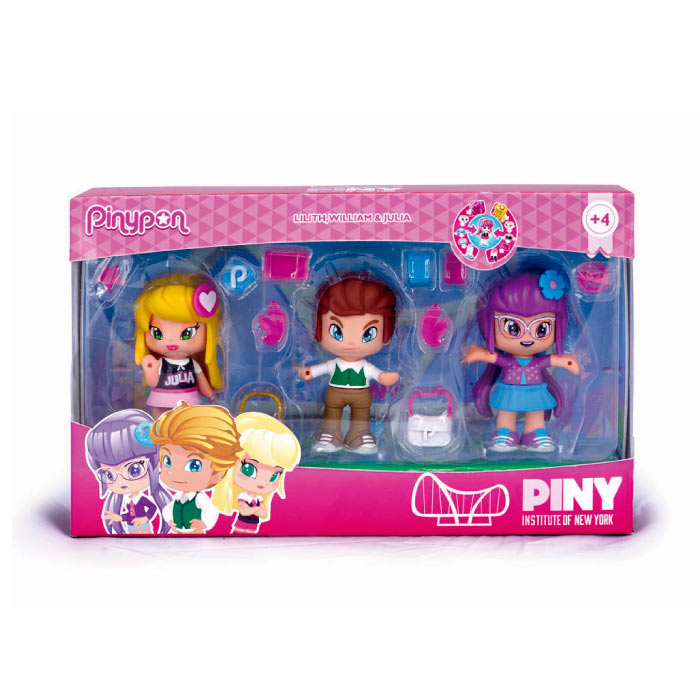Pinypon by PINY. Pack 3 figuras