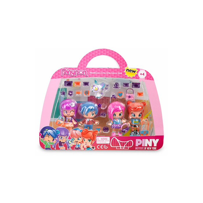 Pinypon by PINY Pack 4 amigas