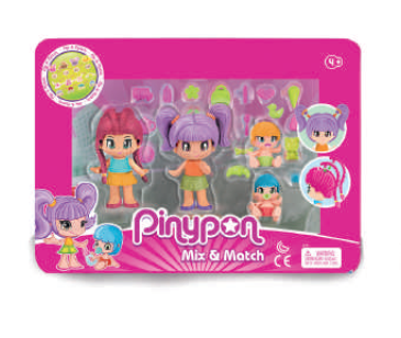 Pinypon. New Look. Pack 4 figuras